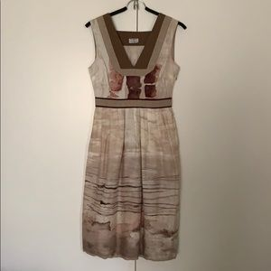 Philosophy Alberta Ferretti brown dress 4 Small